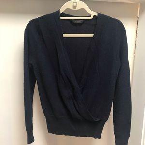 BCBG Blue Crossover Sweater